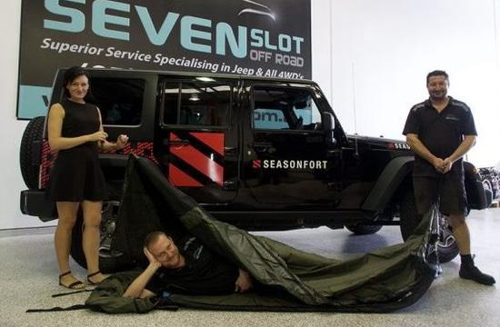 Jeep + SEASONFORT Backpack Bed swag