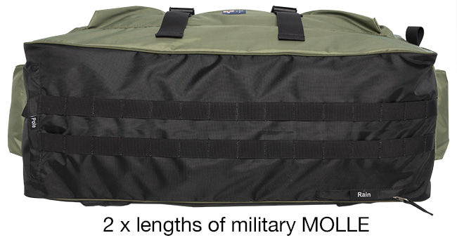 SEASONFORT EXPANSE Backpack Bed 2 x MOLLE + pole pocket + rain pocket